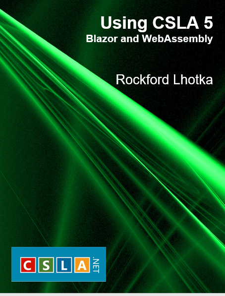 CSLA Blazor book cover